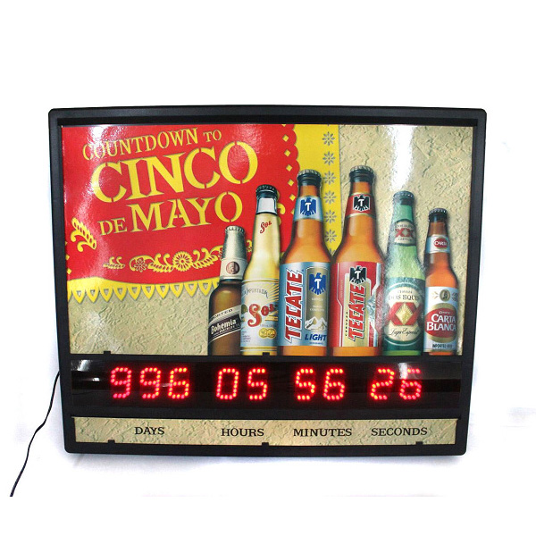 Injection Mold Plastic Countdown Display