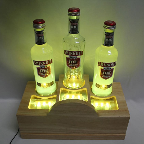Wood LED 3-Bottle Glorifier